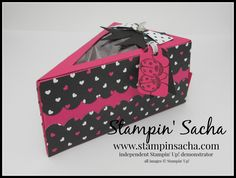Stampin' Sacha - Stampin' Up! - Annual Catalogue 2016-2017 - Cutie Pie Thinlits - Love You Lots - Pop of Pink Specialty Designer Series Paper - Basis Black - Melon Mambo - Whisper White - Gift Box - #stampin_sacha - #stampinup