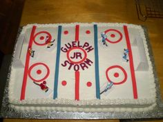 hockey cake.. love.