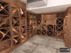Projets 3D - Cavilux, fabricant de cave à vin sur mesure Wine Cellar Design, Wine Design, Wine Bottle Rack, Wine Rack, Cave A Vin Design, Home Wine Cellars, Home Budget, Wine Collection, Cabin Design