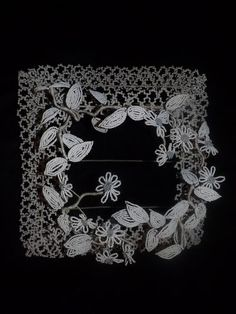 Antique French Magnificent Beaded Flowers Funeral Wreath Mourning White | eBay