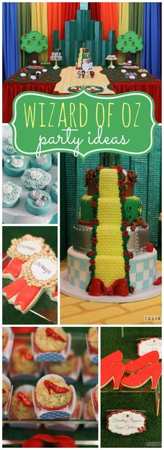 So many fantastic details at this Wizard of Oz party! See more party ideas at CatchMyParty.com!