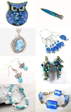 Gorgeous shades of blue in this Treasury by Carolyn Jenkins--Pinned with TreasuryPin.com