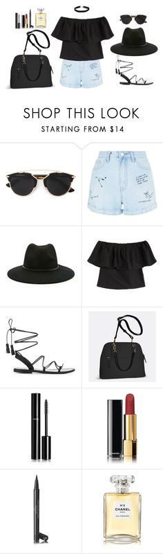 """Slay💫"" by danny-rv ❤ liked on Polyvore featuring beauty, Christian Dior, New Look, Forever 21, MARA, Anine Bing, Avenue, Chanel and Miss Selfridge"