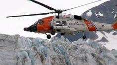 An MH-60 Jawhawk helicopter from Air Station Kodiak, Alaska