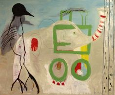 """Saatchi Online Artist: Borg de Nobel; Mixed Media 2011 Painting """"Two Parts of the Road as a Whole"""""""
