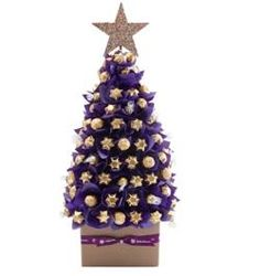 Luxury Purple Christmas Tree Large | Chocolate Bouquets | Edible Blooms