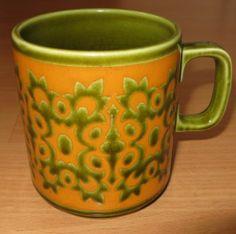 Hornsea Mug - Orange & Green