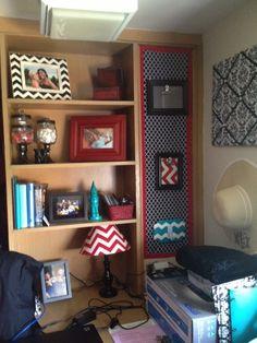 Texas Tech dorm room.  Desk area in Stangel.