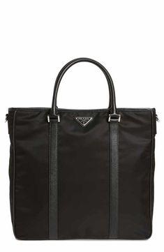 c524a150937 PRADA Tessuto and Saffiano bag Prada Nylon bag - Color  Blue (Very ...