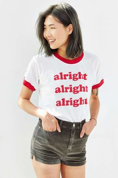 T-shirt à col rond Alright Camp Collection X UO