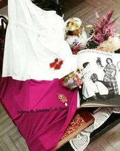 Vestito lungo bianco e fucxia creazioni art #sabinanosmokingsibijou