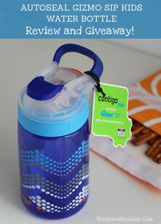 AUTOSEAL Gizmo Sip Kids Water Bottle Review and Giveaway! Enter for a chance to win TWO Gizmo Sip Water Bottles! Ends 4/29/15  #SpillProofGizmo