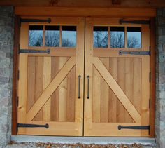 Did you remember to shut the garage door? Most smart garage door openers tell you if it's open or shut no matter where you are. A new garage door can boost your curb appeal and the value of your home. Garage Door Framing, Cheap Garage Doors, Custom Garage Doors, Glass Garage Door, Garage Door Design, Barn Garage, Wooden Garage Doors, Exterior Barn Doors, Barn Door Hinges