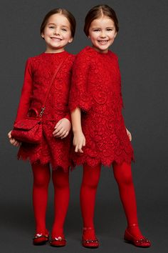 Dolce & Gabanna Christmas Couture for kids!! 2014 collection. Adorable:)