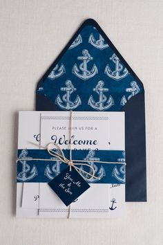 nautical beauty wedding invitation | blue weddings, wedding and, Wedding invitations