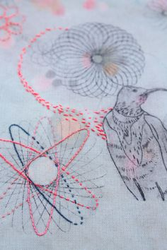 More cool stitchy spirographness! sophie morille | designer textile <3