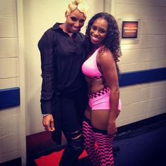 Naomi knight aka Trinity Fatu with Nene leaks at Raw ATL