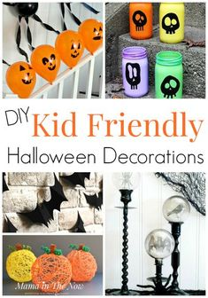 DIY kid friendly Halloween decorations for the whole family. These not spooky Halloween decorations make your family fun at Halloween time! Do these kid friendly Halloween crafts with your family today! Halloween crafts for kids #halloween #holiday #crafts #kids #diy Halloween Decorations For Kids, Halloween Crafts For Kids, Halloween Activities, Fun Crafts For Kids, Halloween Diy, Diy For Kids, Holiday Crafts, Happy Halloween, Halloween Stuff