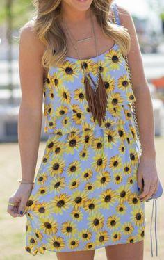 Sunflower Print Sundress