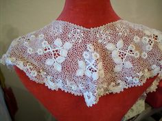 Incredible irish crochet lace large collar or by TextileArtLace, $198.00