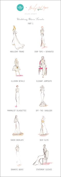 Top bridal gown trends infographic // Wedding Dress Trends for 2015 - Part 1