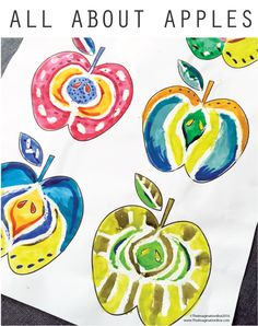 doodle apples free template