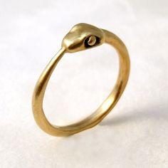Gold Ouroboros Ring