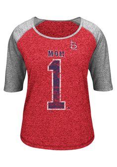 St. Louis Cardinals Womens #1 Mom Scoop Neck Tee http://www