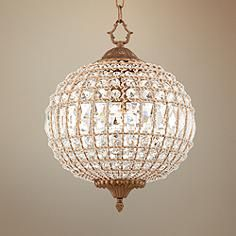 19th c casbah crystal chandelier more like fancy disco crystal jesolo antique gold 13 wide crystal pendant chandelier mozeypictures Gallery