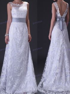 A Line Square Wedding Dresses, Flower Lace Wedding Gown, Dramatic Wedding Dress