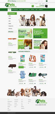 Pets Online Shop #ZenCart #template. #themes #business #ecommerce #webtemplates