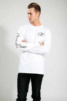 WHITE/BLACK MENS CLASSIC OC LONG SLEEVE TEE Oc, Long Sleeve Tees, Classic, Sleeves, Mens Tops, T Shirt, Black, Fashion, Derby