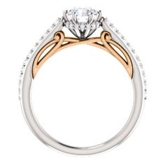 NEW Two Tone Round Diamond Engagement Ring with Rose Gold Accents! Click through for product details OR to locate a jeweler near you. #HowIStuller
