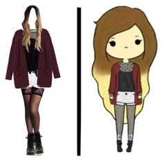 """""""Chibi IRL 4"""" by shinedownsiren ❤ liked on Polyvore featuring Current/Elliott, Louis Vuitton, Monki and Lauren Conrad"""
