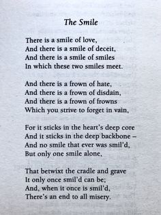 William Blake, The Smile Blake Poetry, Old Poetry, Poetry Poem, Nice Poetry, Poetry Feelings, Motivational Poems, Poem Quotes, Life Quotes, William Wordsworth Poems