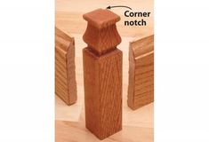 In the same way that corner blocks eliminate mitered door-casing corners, these corner blocks eliminate outside corner miters in baseboard moldings. Baseboard Molding, Baseboards, Wainscoting, Moldings, Stairs And Staircase, Staircase Design, Spiral Staircases, Outside Corner Moulding, Narrow Hallway Decorating