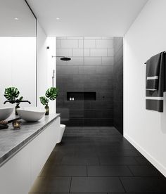 porcelain flooring Lounge Black Matt Porcelain - Floor Tiles from Tile Mountain Black Tile Bathrooms, Modern Bathroom Tile, Bathroom Interior Design, Bathroom Flooring, Small Bathroom, Black Bathroom Floor Tiles, Grey Bathroom Tiles, Bathroom Renovations, Bathroom Ideas