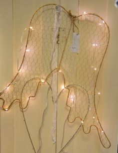 Wired wings and Christmas lights