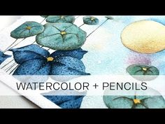 Watercolour Tutorials, Watercolor Pencils, Watercolor Paintings, Watercolor Ideas, Relaxing Art, Art Studio At Home, Color Blending, Old Art, Types Of Art