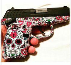 The Best Concealed Carry Guns For Women - Allgunslovers Tribal Tattoos, Tattoos Skull, Ear Tattoos, Celtic Tattoos, Sleeve Tattoos, Crane, Sugar Skull Art, Sugar Skulls, Pink Guns