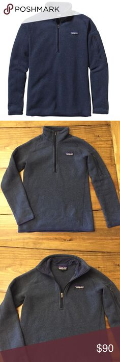 Patagonia Better Sweater 1/4 Zip Navy Blue XS Half Zip Patagonia Pullover in excellent condition! No marks or stains, barely worn. It's super warm and comfy, very well made. You can't beat Patagonia products! Patagonia Sweaters