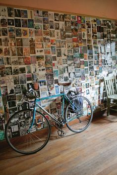 Postcard wall. I love things like this, then I worry how you dust them...