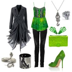 That coat. (Slytherin inspired outfit)...crazy  but i love..lol