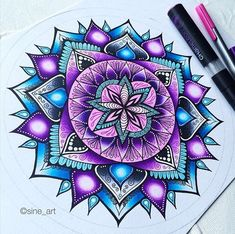 tattoo - mandala - art - design - line - henna - hand - back - sketch - doodle - girl - tat - tats - ink - inked - buddha - spirit - rose - symetric - etnic - inspired - design - sketch Mandalas Painting, Mandala Drawing, Mandala Art, Doodle Girl, Dream Catcher Art, New Pen, Mandala Coloring Pages, Color Pencil Art, Flower Mandala