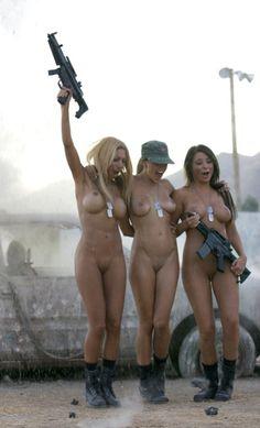 Nude Teen With Gun 10