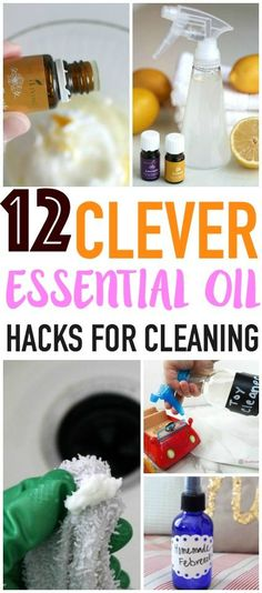 These clever essential oil cleaning tips and tricks are a great non-toxic safe way to clean your home! Pin for later!