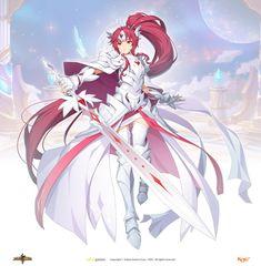 그랜드체이스 카페톡 Anime Art Fantasy, Dark Fantasy Art, Fantasy Girl, Anime Art Girl, Manga Art, Manga Anime, Character Concept, Character Art, Character Design
