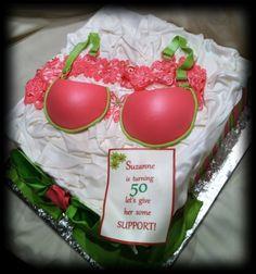 Bra 50th birthday cake