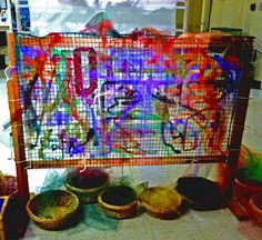 Group project from let the children play: weaving activities for young children