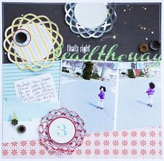 Sketch and layout by Cindy Liebel   #scrapbook #lilybee #lilybeedesign #sketch